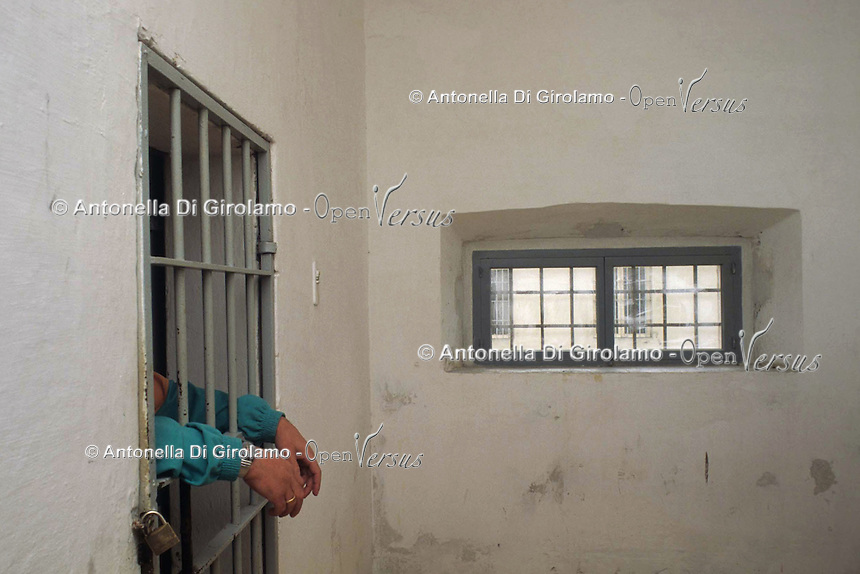 Casa di reclusione di Porto Azzurro, isola d' Elba..House of imprisonment of Porto Azzurro, Elba Island. .Celle dei prigionieri. Cells of the prisoners.. .