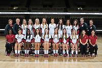 STANFORD, CA - AUGUST 13, 2013 - Stanford Women's Volleyball team.