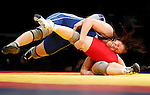BELGRADE, SERBIA - MARCH 09: Maja Gunvor Erlandsen of Norway (TOP) fights with Kateryna Burmistrova of Ukraine (DOWN) during Women`s  Freestyle 72 kg match for gold medal at the European wrestling championship March 09, 2011 in Belgrade, Serbia.(Photo by Srdjan Stevanovic/Getty Images)