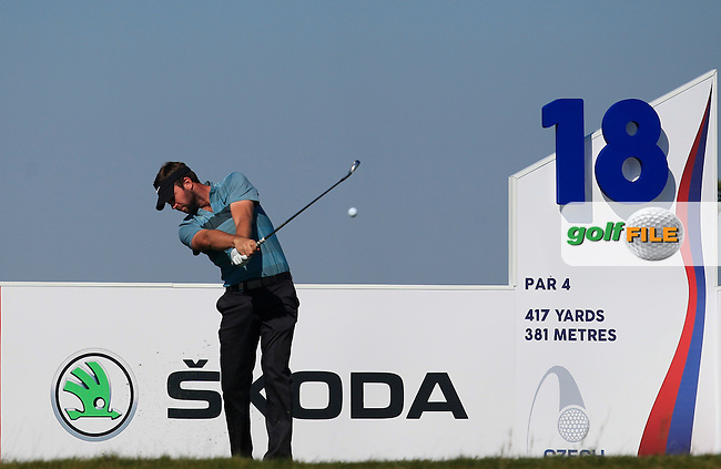 Scott Jamieson (SCO) on the 18th tee during Round 2 of the D&amp;D Real Czech Masters 2016 at the Albatross Golf Club, Prague on Friday 19th August 2016.<br /> Picture:  Thos Caffrey / www.golffile.ie<br /> <br /> All photos usage must carry mandatory copyright credit   (&copy; Golffile | Thos Caffrey)