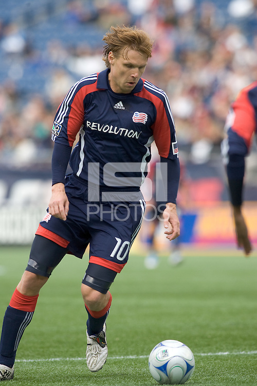 New England Revolution forward Edgaras Jankauskas (10). The New England Revolution out scored the Chicago Fire, 2-1, in Game 1 of the Eastern Conference Semifinal Series at Gillette Stadium on November 1, 2009.