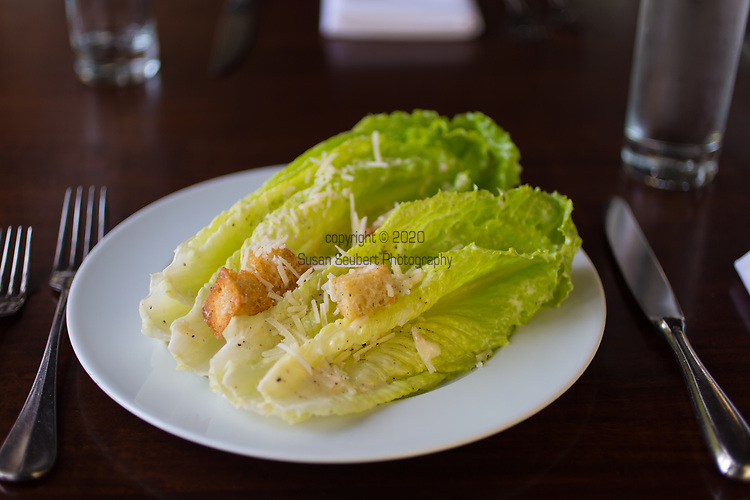 The Caesar Salad at Castagna Cafe in Portland, Oregon