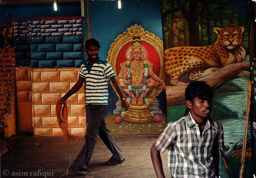 At the Sabarimala festival, a local photo studio