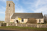 Village parish church and churchyard, Saint Mary, Henstead Suffolk, England, UK