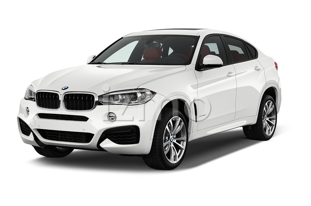 2017 BMW X6 M-sportpakket 5 Door SUV Angular Front stock photos of front three quarter view