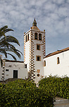 Historic church tower, Iglesia de Santa Maria, Betancuria, Fuerteventura, Canary Islands, Spain