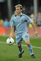 Sporting KC defender Seth Sinovic in action..Sporting Kansas City defeated Philadelphia Union 2-1 at LIVESTRONG Sporting Park, Kansas City, KS.