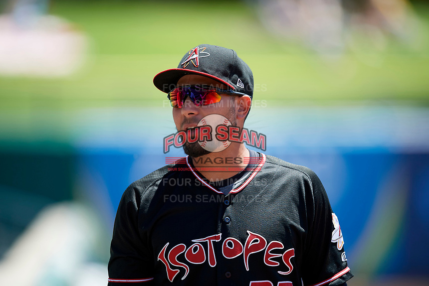 in Pacific Coast League action at Smith's Ballpark on June 11, 2017 in Salt Lake City, Utah. The Bees defeated the Isotopes 6-5. (Stephen Smith/Four Seam Images)