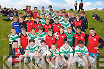 5th and 6th Class Pupils from the Holy Family School, Tralee at their Football blitz at Ballyrickard on Thursday.
