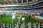 Brendan Kealy Jonathan Lyne and Stephen O'Brien. Kerry players celebrate their victory over Donegal in the All Ireland Senior Football Final in Croke Park Dublin on Sunday 21st September 2014.