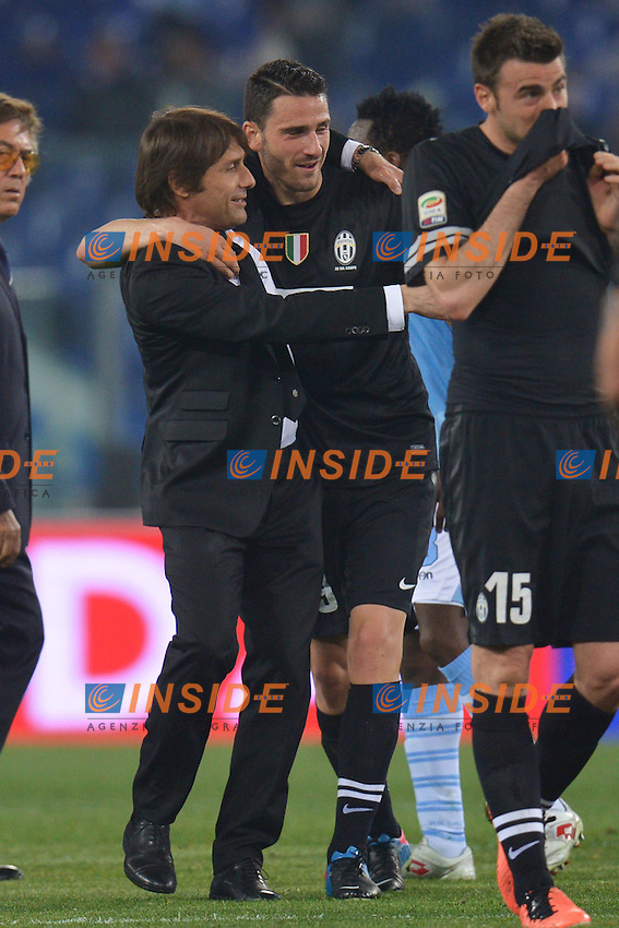 Antonio Conte, Leonardo Bonucci Juventus .Roma 15/04/2013 Stadio Olimpico.Football Calcio 2012/2013 Serie A.Lazio Vs Juventus.Foto Andrea Staccioli Insidefoto