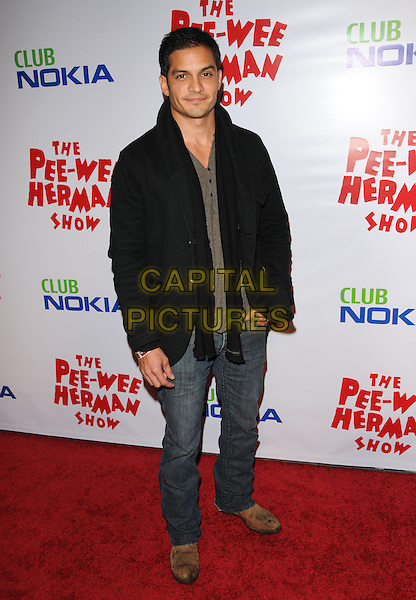 NICHOLAS GONZALEZ.The The Pee-Wee Herman Show Opening Night held at Club Nokia at L.A. Live in Los Angeles, California, USA..January 20th, 2010.full length black jacket jeans denim .CAP/RKE/DVS.©DVS/RockinExposures/Capital Pictures.