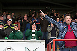Visiting fans celebrating Jamille Matt's goal as Morecambe hosted Plymouth Argyle in a League 2 fixture at the Globe Arena. The stadium was opened in 2010 and replaced Morecambe's traditional home of Christie Park which had been their home since 1921, the year after their foundation. Plymouth won this fixture by 2-0 watched by 2,081 spectators, in a game delayed by 30 minutes due to traffic congestion affecting travelling Argyle fans.