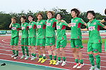 NTV Beleza team group (Beleza), <br /> JULY 12, 2015 - Football / Soccer : <br /> 2015 Plenus Nadeshiko League Division 1 <br /> between NTV Beleza 1-0 AS Elfen Saitama <br /> at Hitachinaka Stadium, Ibaraki, Japan. <br /> (Photo by YUTAKA/AFLO SPORT)