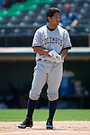 Columbus Clippers right fielder Bronson Sardinha waits for his hat and glover after striking out versus the Charlotte Knights at Knights Stadium in Fort Mill, SC, Tuesday, July 18, 2006.