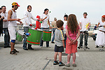 Leon and Yassi Noble watch Sambarrada from Galway playing at the Launch of the Samba Festival in the D Hotel...Photo NEWSFILE/Jenny Matthews.(Photo credit should read Jenny Matthews/NEWSFILE)....This Picture has been sent you under the condtions enclosed by:.Newsfile Ltd..The Studio,.Millmount Abbey,.Drogheda,.Co Meath..Ireland..Tel: +353(0)41-9871240.Fax: +353(0)41-9871260.GSM: +353(0)86-2500958.email: pictures@newsfile.ie.www.newsfile.ie.FTP: 193.120.102.198.