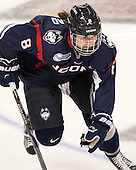 Rebecca Lindblad (UConn - 8) - The Boston College Eagles defeated the visiting UConn Huskies 4-0 on Friday, October 30, 2015, at Kelley Rink in Conte Forum in Chestnut Hill, Massachusetts.