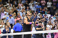 FLUSHING NY- SEPTEMBER 08: Rafael Nadal reacts after defeating Daniil Medvedev during the men's finals on Arthur Ashe Stadium at the USTA Billie Jean King National Tennis Center on September 8, 2019 in Flushing Queens. <br /> CAP/MPI04<br /> ©MPI04/Capital Pictures
