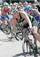 29 JUL 2007 - SALFORD, UK - Jodie Swallow - Salford ITU World Cup Triathlon. (PHOTO (C) NIGEL FARROW)