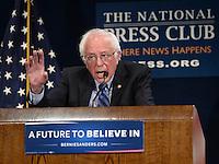 Bernie Sanders at National Press Club
