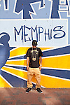 Drumma Boy in downtown Memphis, Tennessee, October , 2011.