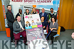 At the launch of the Ernie Els Golf for Autism Comes to Ireland its # Game On, on Wednesday in The Solas Building,ITT Tralee, Front l-r: Liam Duggan, Jen Hong and Edel Randles, Back l-r: Dominique Wehrkamp,Koffi Faiti,Therese Conway,Catherine Carty,Ogie Moran and Jerome Selvara.