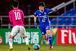Ulsan Hyundai Midfielder Han Seunggyu (R) in action during their AFC Champions League 2017 Playoff Stage match between Ulsan Hyundai FC (KOR) vs Kitchee SC (HKG) at the Ulsan Munsu Football Stadium on 07 February 2017 in Ulsan, South Korea. Photo by Chung Yan Man / Power Sport Images