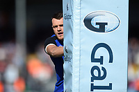 Zach Mercer of Bath Rugby looks on during the pre-match warm-up. Gallagher Premiership match, between Exeter Chiefs and Bath Rugby on March 24, 2019 at Sandy Park in Exeter, England. Photo by: Patrick Khachfe / Onside Images