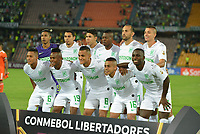 MEDELLIN - COLOMBIA, 14-02-2019: Jugadores del Nacional posan para una foto previo al partido de la segunda fase, llave 6, entre Atlético Nacional (COL) y Deportivo La Guaira (VEN), por la Copa Conmebol Libertadores Bridgestone 2019, en el Estadio Atanasio Girardot, la ciudad de Medellín. / Players of Nacional pose to a  photo prior a match for the second stage, key 6, between Atletico Nacional (COL) and Deportivo La Guaira (VEN), for the Conmebol Libertadores Bridgestone Cup 2019, at the Atanasio Girardot, Stadium, in Medellin city. Photos: VizzorImage / León Monsalve / Cont.