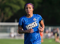 Kansas City, MO - Sunday July 02, 2017:  Sydney Leroux jogs off the pitch before a regular season National Women's Soccer League (NWSL) match between FC Kansas City and the Houston Dash at Children's Mercy Victory Field.