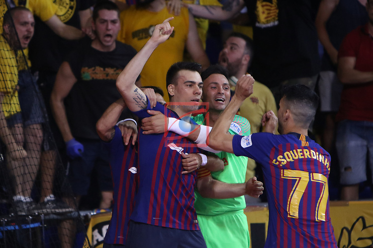 League LNFS 2018/2019.<br /> Play Off. Game: 5.<br /> FC Barcelona Lassa vs El Pozo Murcia: 3-2.<br /> Sergio Lozano.