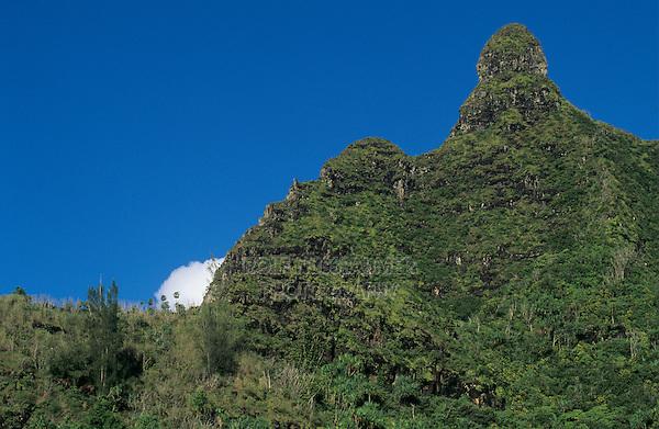 Mountain peak on Na Pali Coast, Kauai, Hawaii, USA