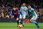 Lionel Andres Messi of FC Barcelona (L) battles for the ball with David Costas Cordal of RC Celta de Vigo during the La Liga 2018-19 match between FC Barcelona and RC Celta de Vigo at Camp Nou on 22 December 2018 in Barcelona, Spain. Photo by Vicens Gimenez / Power Sport Images