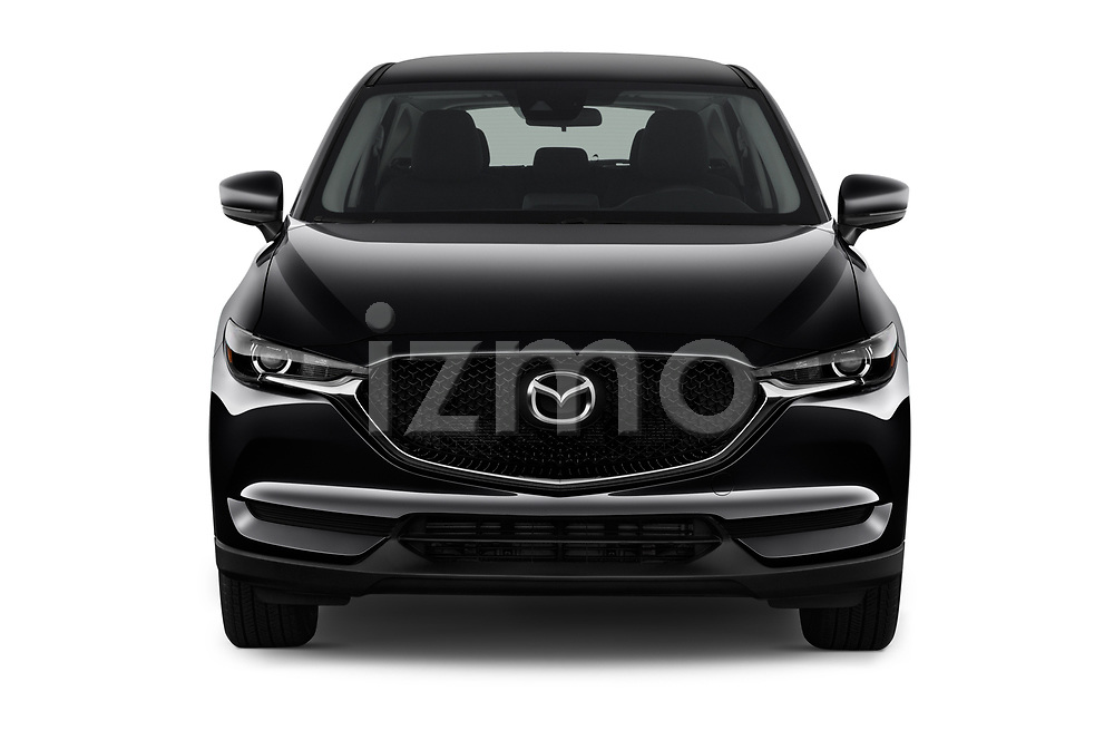 Car photography straight front view of a 2017 Mazda CX-5 Sport 5 Door SUV