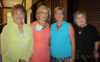 NWA Democrat-Gazette/CARIN SCHOPPMEYER Jackie Spedding (from left), Carol Adams, Beverly Horner and Sharon Westbrook gather at the Circle of Life luncheon.
