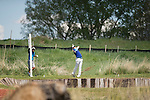 19 MAY 2016: Logan Gray of Central Oklahoma hits his drive during the 2016 Division II Men's Individual Golf Championship held at Green Valley Ranch Golf Club in Denver, CO. Justin Tafoya/NCAA Photos