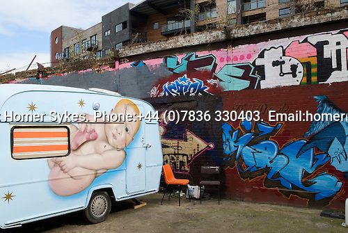 Whitepost Lane, E15. East London the site of the 2012 Olympic Games village and arena,  Stratford, England 2006.