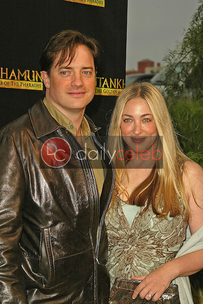 Brendan Fraser and wife Afton Smith<br /> at the King Tut Returns to LACMA for a Five-Month Engagement, LACMA, Los Angeles, CA 06-15-05<br /> David Edwards/DailyCeleb.Com 818-249-4998