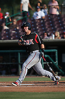 Ty France (25) of the Lake Elsinore Storm bats against the Inland Empire 66ers at San Manuel Stadium on July 31, 2016 in San Bernardino, California. Inland Empire defeated Lake Elsinore, 8-7. (Larry Goren/Four Seam Images)