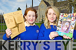 St Brigid's Secondary school, Killarney students Ellen McGillicuddy and Edith Lucey who celebrated World Catholic school week by making a project in the school and doing radio interviews on Thursday..........