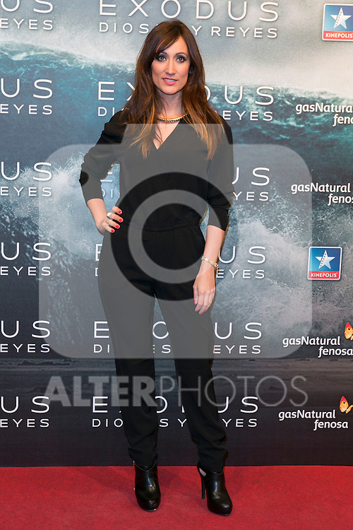 """Ana Morgade attend the Premiere of the movie """"EXODUS: GODS AND KINGS"""" at callao Cinema in Madrid, Spain. December 4, 2014. (ALTERPHOTOS/Carlos Dafonte)"""