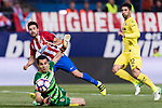 Nicolas Gaitan of Atletico de Madrid (L) in action during the La Liga match between Atletico de Madrid vs Villarreal CF at the Estadio Vicente Calderon on 25 April 2017 in Madrid, Spain. Photo by Diego Gonzalez Souto / Power Sport Images