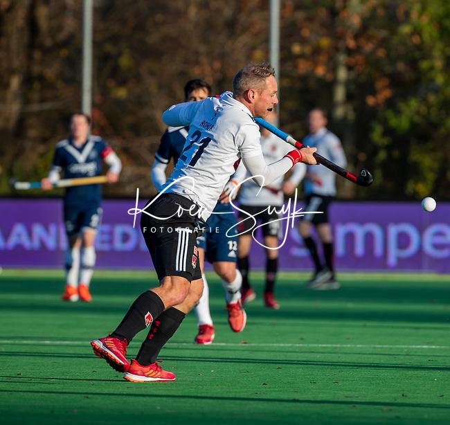 AMSTELVEEN -  Teun Rohof (Adam) ijdens de competitie hoofdklasse hockeywedstrijd heren, Pinoke-Amsterdam (1-1)   COPYRIGHT KOEN SUYK