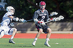 Manhattan Beach, CA 02-11-17 - Liam Villano (Santa Clara #4) and Givino Rossini (Loyola Marymount #7), and Jonathan Van der Velden (Santa Clara #2) in action during the MCLA non-conference game between LMU (SLC) and Santa Clara (WCLL).  Santa Clara defeated LMU 18-3.