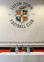 The scene is set for the New Luton Town Manager Nathan Jones during an Open Media session at Kenilworth Road, Luton, England on 8 January 2016. Photo by Liam Smith / PRiME Media Images
