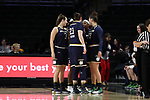 WINSTON-SALEM, NC - DECEMBER 31: Notre Dame players huddle before the game. The Wake Forest University Demon Deacons hosted the Notre Dame University Fighting Irish on December 31, 2017 at Lawrence Joel Veterans Memorial Coliseum in Winston-Salem, NC in a Division I women's college basketball game. Notre Dame won the game 96-73.