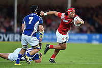 Latiume Fosita of Tonga in possession. Rugby World Cup Pool C match between Tonga and Namibia on September 29, 2015 at Sandy Park in Exeter, England. Photo by: Patrick Khachfe / Onside Images
