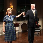 Kelly Coffield Park & John Ottavino during the Curtain Call for the Opening Celebration of 'Checkers' at the Vineyard Theatre in New York City on 11/11/2012