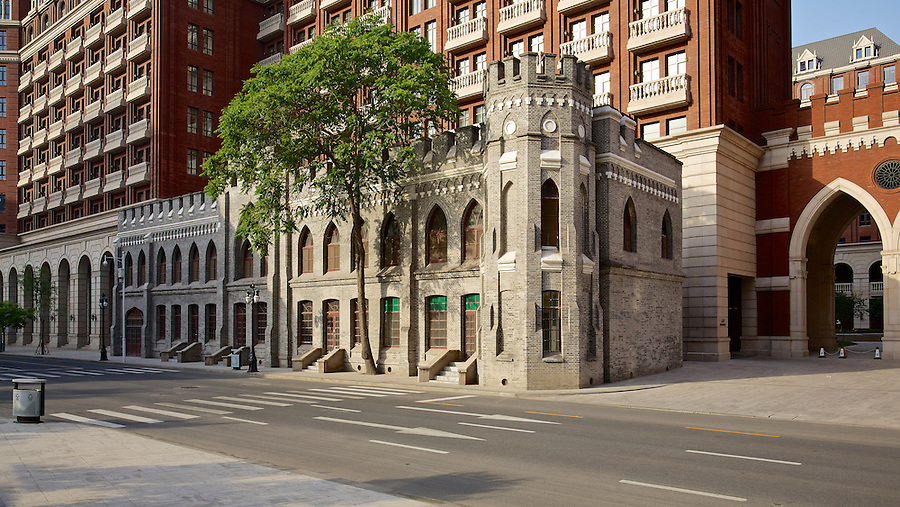Remnants (Rear East Wing) Of Gordon Hall In Tianjin (Tientsin).  This Is Possibly A Reconstruction.