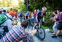 Picture by Alex Broadway/SWpix.com - 30/09/2018 - Cycling 2018 Road Cycling World Championships Innsbruck-Tirol, Austria - Men's Elite Road Race - Romain Bardet of France goes up The Hell climb.